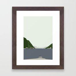 BJERGE OG SØER Framed Art Print