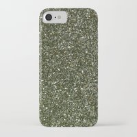 gold glitter iPhone & iPod Cases featuring gold glitter by Hannah
