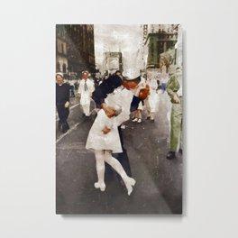 The Kiss,VJ Day, WWII Metal Print
