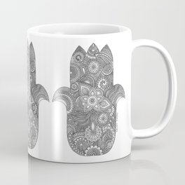 Hamsa - B&W Coffee Mug