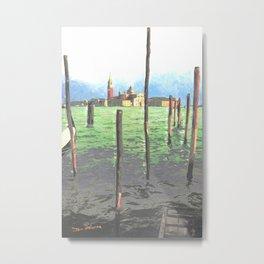 Gondola Moorings Metal Print