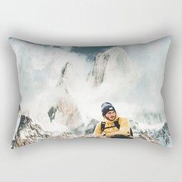hiking in patagonia Rectangular Pillow