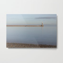 Pebbles at Roker Metal Print