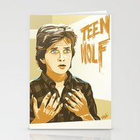 teen wolf Stationery Cards featuring Teen Wolf by IBTrav Pop Shop