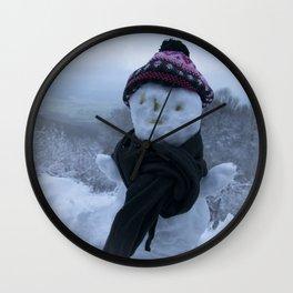 Silly Snowman Wall Clock