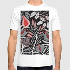 Winter scene with summer fruits White Mens Fitted Tee 2X-LARGE