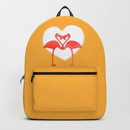 lovebirds - flamingos in love Backpack