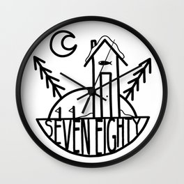 SevenEighty Ice Wall Clock