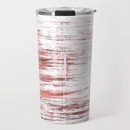 Red white watercolor Travel Mug