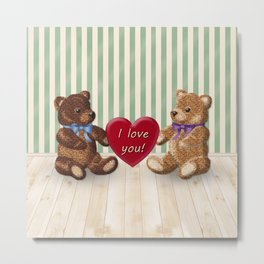 I Love You Beary Much! Metal Print