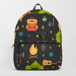 Camping Themed Pattern Backpack