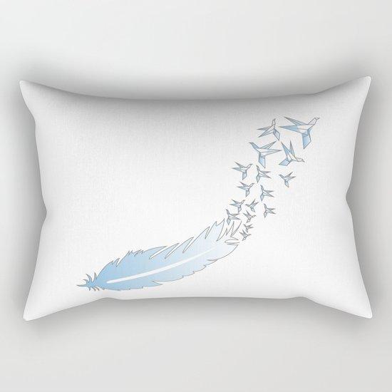 Origami Feather Birds Rectangular Pillow