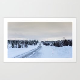 Icy Road in Finland Art Print
