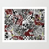 rock n roll Art Prints featuring 50s rock n roll by Mickaela Correia