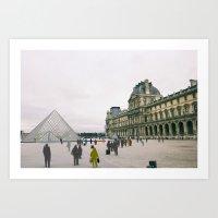 Sometimes People Annoy me Feat. The Louvre, Paris Art Print