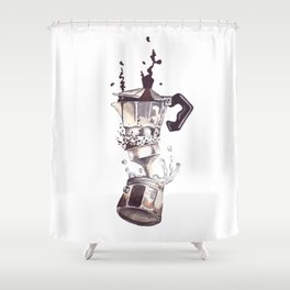 If all else fails, Coffee! Shower Curtain