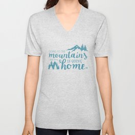 Going to the Mountains Unisex V-Neck