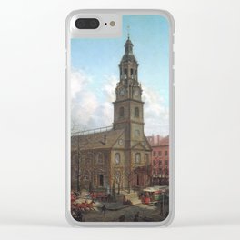 Edward Lamson Henry - The North Dutch Church, Fulton And William Streets, New York Clear iPhone Case