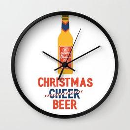 CHRISTMAS BEER Wall Clock