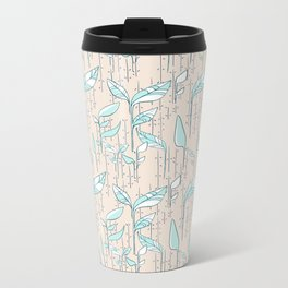 Leafy Green Metal Travel Mug