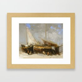 Sail Boats Framed Art Print