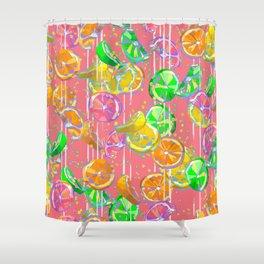 Pop Art Citrus Fizz  Shower Curtain