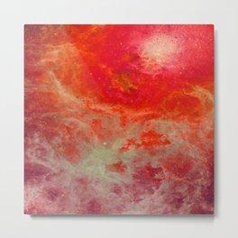 Red Orange Nebula : Galaxy Space Metal Print