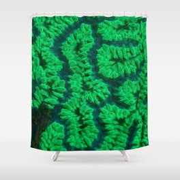 Fluorescent coral Shower Curtain