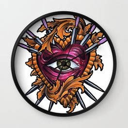 Filigree Heart Wall Clock