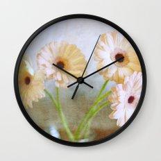 Pink Gerbera Floral Wall Clock