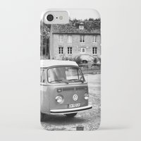 1975 iPhone & iPod Cases featuring 1975 VW Camper by BeCombi