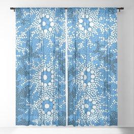 Authentic Aboriginal Art - Waterhole Dreaming Sheer Curtain