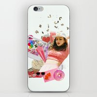 charli xcx iPhone & iPod Skins featuring Charli XCX by Kat Heroine