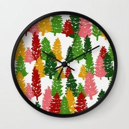 Scribble Trees Wall Clock