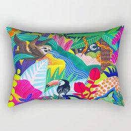 Jungle Party Animals Rectangular Pillow