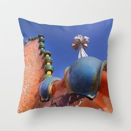 Gaudi Series - Casa Batllo No. 3 Throw Pillow