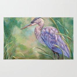 """""""Solitude"""" - Pastel of Great Blue Heron Rug"""