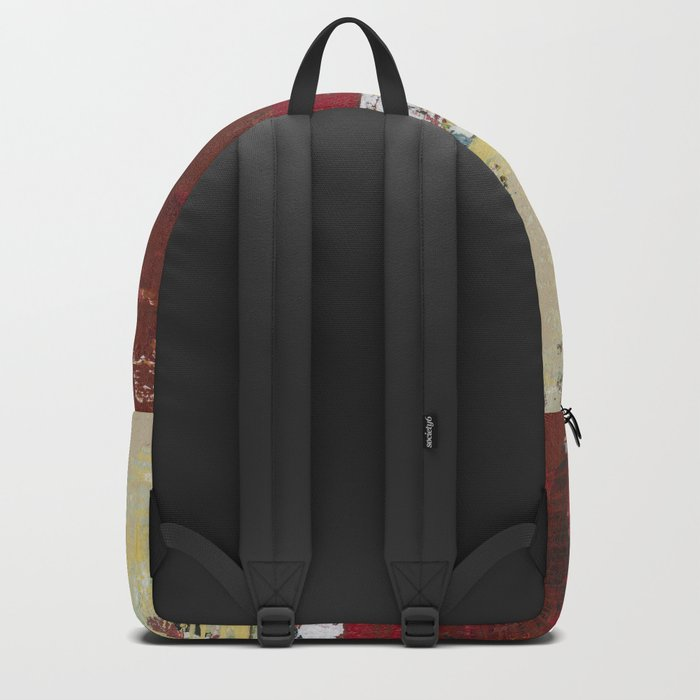 Buffalo Indian Red Burgundy Modern Abstract Art Backpack