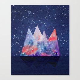 Mountains by night Canvas Print