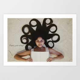 What's your story? Art Print