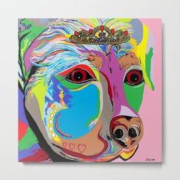 Lady Rottweiler Metal Print