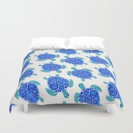 Sea Turtle – Blue Palette Duvet Cover