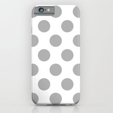 Silver Polka Dots Slim Case iPhone 6