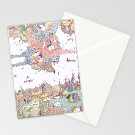Abstract colour drawing floral Stationery Cards