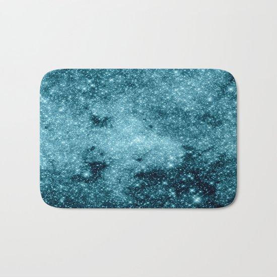 Teal Galaxy STars Bath Mat