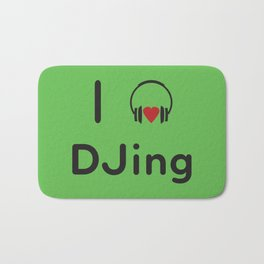 I heart DJing Bath Mat