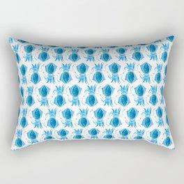 Cute Blue Squid Rectangular Pillow