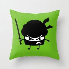 Ninja Cupcake  Throw Pillow
