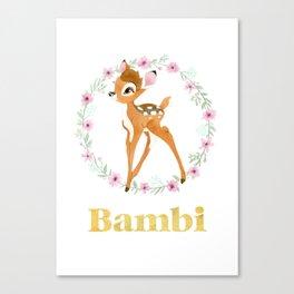 Bambi - Gold Canvas Print