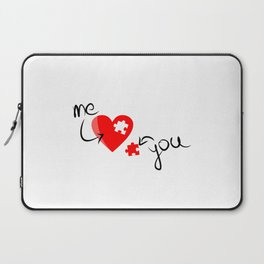 Me and You Missing Piece to my Heart Design Laptop Sleeve